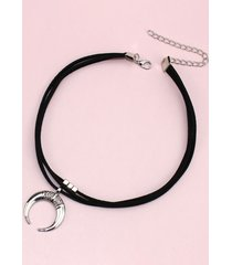 moon pendant multilayered choker necklace
