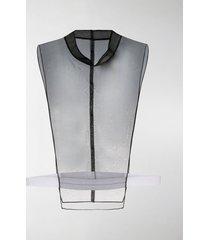 maison margiela sheer panel vest top