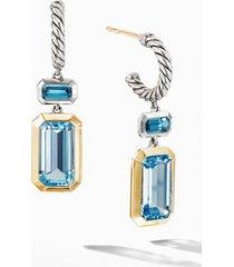 women's david yurman novella drop earrings with 18k yellow gold