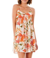 women's rip curl north shore cover-up dress, size x-large - pink