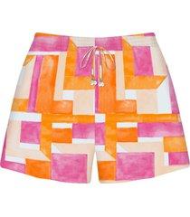 shorts tecido rayon bali ladrilhos - lez a lez