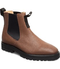 414g walnut leather shoes chelsea boots brun gram