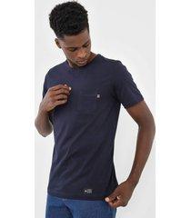camiseta polo wear bolso azul-marinho - azul marinho - masculino - algodã£o - dafiti