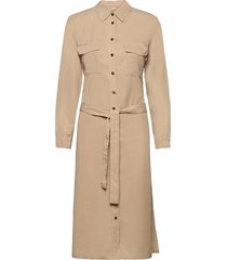 woven dresses knälång klänning beige marc o'polo