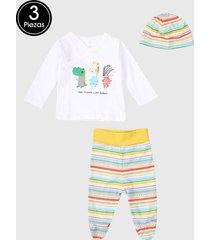 conjunto blanco-multicolor boboli