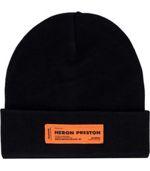 heron preston ribbed knit beanie