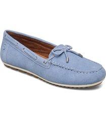 woms slip-on loafers låga skor blå tamaris