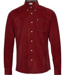 barbour cord 2 tailore skjorta casual röd barbour