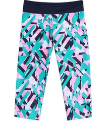 legging capri estampado color verde, talla xs