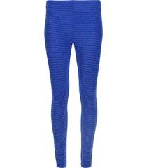 legging básico azul texturizado color azul, talla xs