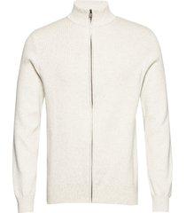 knit pattern zip cardigan gebreide trui cardigan crème lindbergh