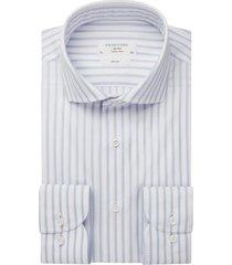 overhemd profuomo sky blue slim fit gestreept