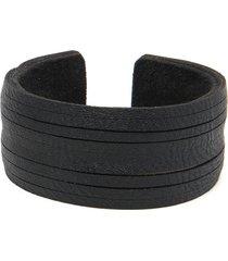 pulsera de mujer negro due giri due fili leather collection vestopazzo