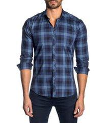 men's jared lang slim fit plaid button-up sport shirt