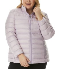 32 degrees plus size packable puffer jacket, created for macy's