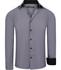one redox maximus heren overhemd grijs