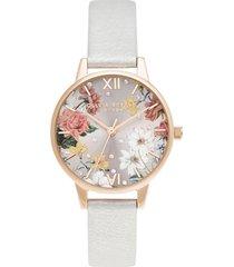 reloj análogo blanco olivia burton