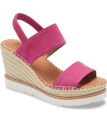women's gentle souls by kenneth cole elyssa platform wedge sandal, size 5.5 m - pink