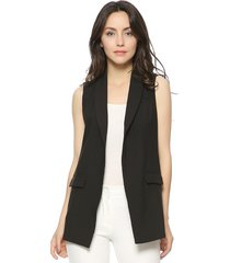 women fashion elegant office lady pocket coat sleeveless vests jacket outwear ca