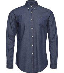 julian button down denim shirt overhemd business blauw morris