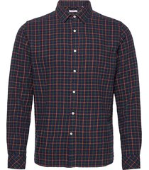checked flannel shirt - gots/vegan overhemd casual blauw knowledge cotton apparel