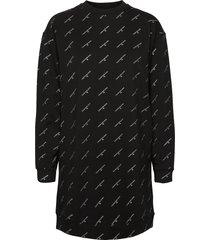 aop gold logo cn dress kort klänning svart calvin klein jeans