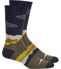 sun + stone men's abstract socks