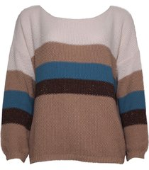 20 to 20to knitwear pullover stripe dc18270 beige