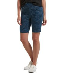 utopia by hue denim leopard print bermuda shorts, online only
