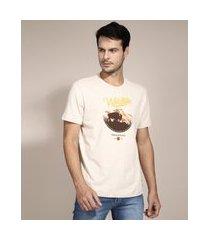 "camiseta wildlife"" manga curta gola careca off white"""