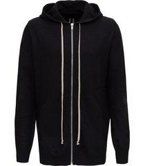 rick owens cardigan zipped hoodie