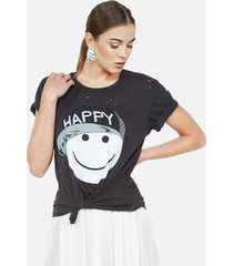 wolf happy hat face - l onyx