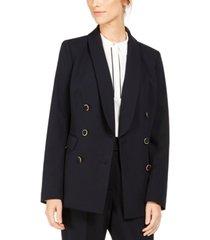 calvin klein double-breasted shawl-collar blazer