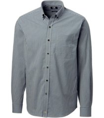 cutter and buck men's big and tall anchor gingham shirt