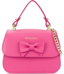 monnalisa bow shoulder bag - pink
