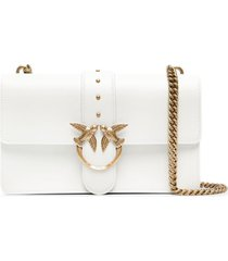 pinko animal-hardware shoulder bag - white