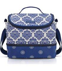 bolsa térmica com 2 compartimentos jacki design bella vitta azul