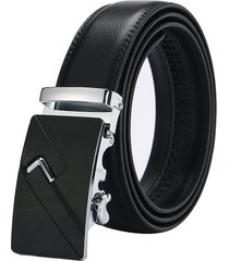 cinturon correa hebilla automatica cuero hombres 23 silver 1