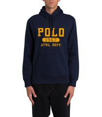 ralph lauren logo printed hoodie