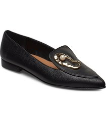 alexa black leather / oyster loafers låga skor svart flattered