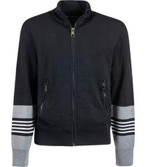 neil barrett zipped pocket sleeve stripe jacket