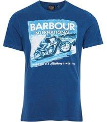barbour t-shirt blauw ronde hals