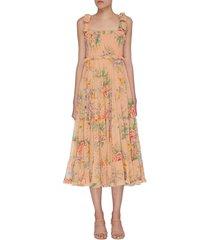 'zinnia' tiered floral print sundress