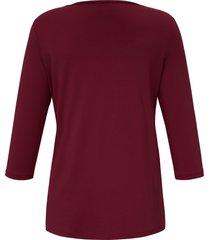 shirt 3/4-mouwen en dubbele voorkant van anna aura rood