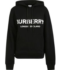burberry logo front print hoodie