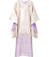 bambah antonia kaftan dress - metallic