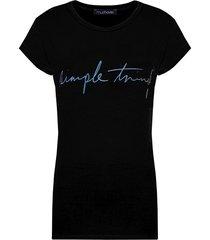 simple things top zwart blauw