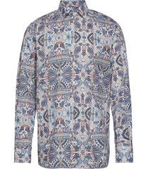 ancient paisley print - contemporary fit overhemd business blauw eton