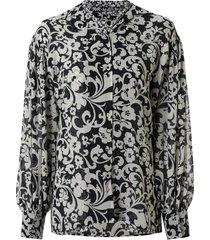 maison mihara yasuhiro reversible floral print shirt - black