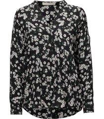 amilie wing shirt blouse lange mouwen zwart pieszak